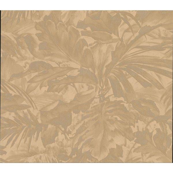 Papier peint sans colle non-tissé avec motif de vignes Metallic par Advantage, 57,8 pi², bronze