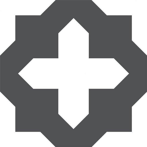 Carrelage en vinyle autocollant Nordic par FloorPops, 12 po x 12 po, noir, 10 pièces