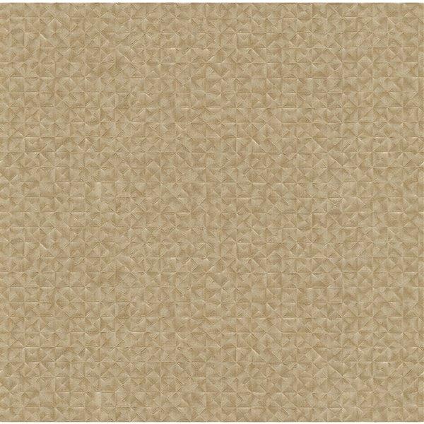 Papier peint sans colle en vinyle et motif géométrique Deluxe par Advantage, 56,4 pi², beige