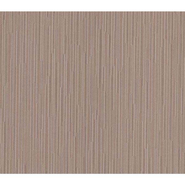 Papier peint sans colle en vinyle et motif géométrique Deluxe par Advantage, 57,8 pi², brun