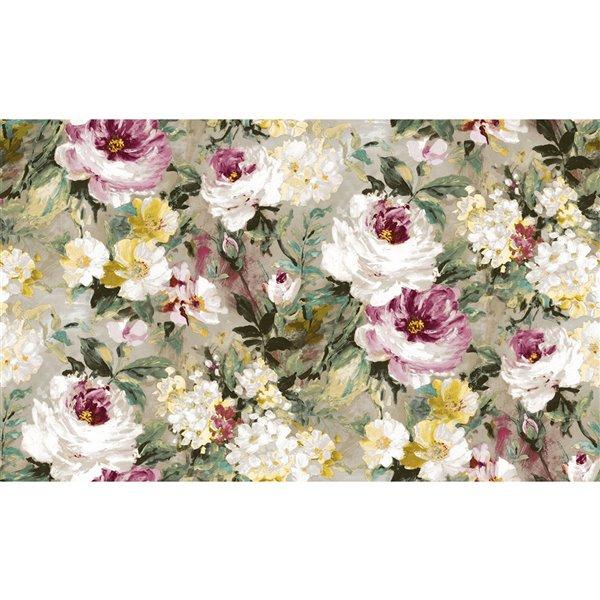 Papier peint sans colle en vinyle floral Deluxe par Advantage, 57,8 pi², multicolore