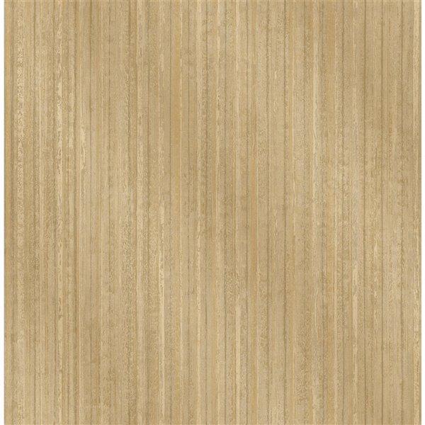 Papier peint sans colle non-tissé avec rayures Medley par Fine Decor, 56,4 pi², or