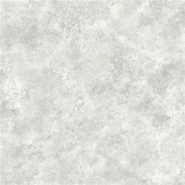 Papier peint sans colle non-tissé avec motif abstrait Metallic par Advantage, 56,4 pi², platine