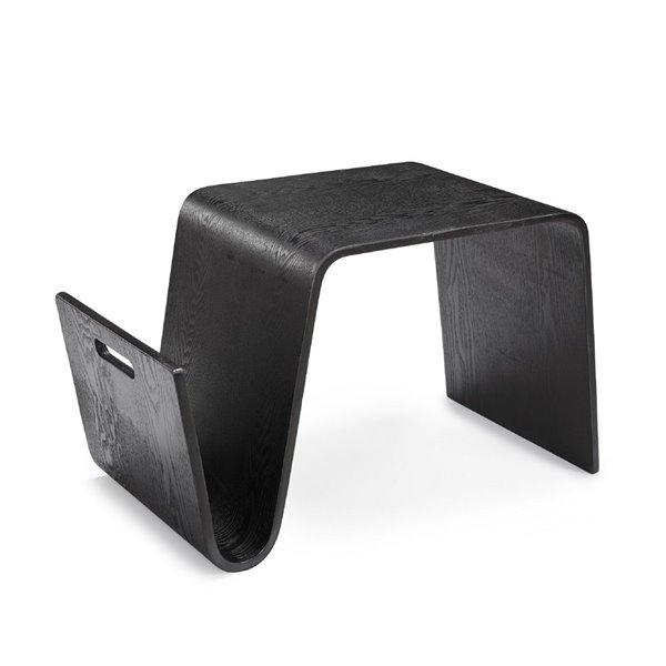Table d'appoint rectangulaire Brookside de Manhattan Comfort en bois noir
