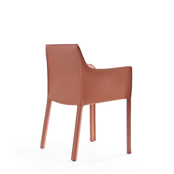 Fauteuil contemporain Vogue rembourré en similicuir (cadre en métal) par Manhattan Comfort