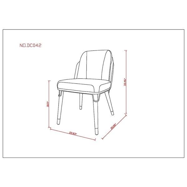 Chaise d'appoint contemporaine Estelle rembourrée en similicuir (cadre en bois) de Manhattan Comfort