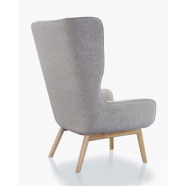 Chaise pivotante Sampson en tissu croisé beige blé de Manhattan Comfort