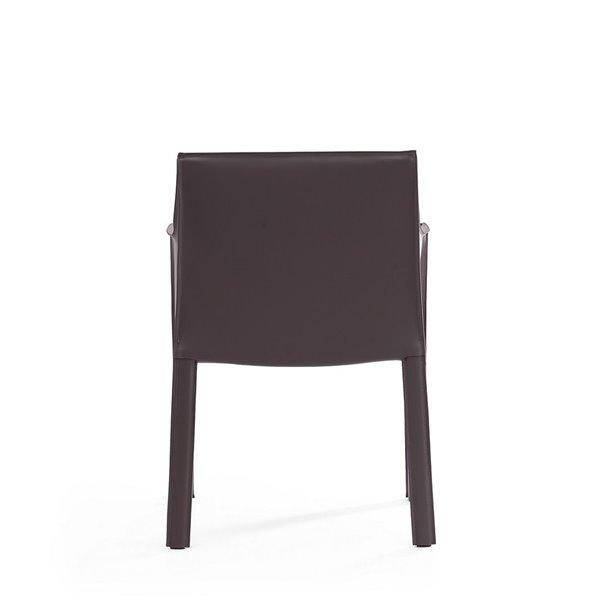 Fauteuil contemporain Vogue rembourré en similicuir (cadre en métal) de Manhattan Comfort