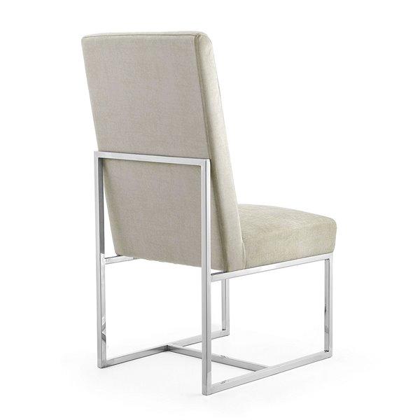 Chaise d'appoint contemporaine Element rembourrée en velours avec cadre en métal par Manhattan Comfort