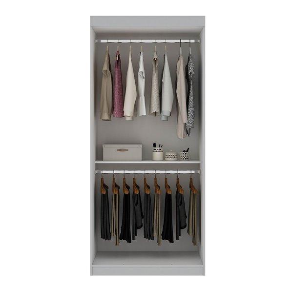 Vestiaire-penderie ouvert de 35,9po Mulberry par Manhattan Comfort, blanc