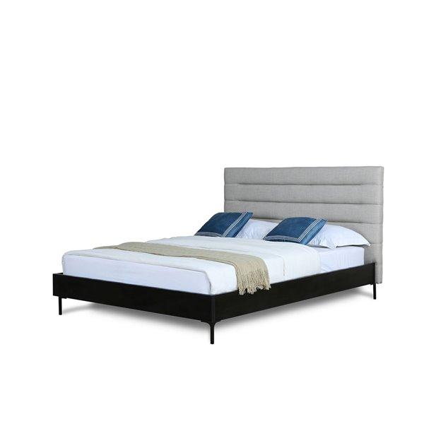 Grand lit Schwamm gris pâle de Manhattan Comfort