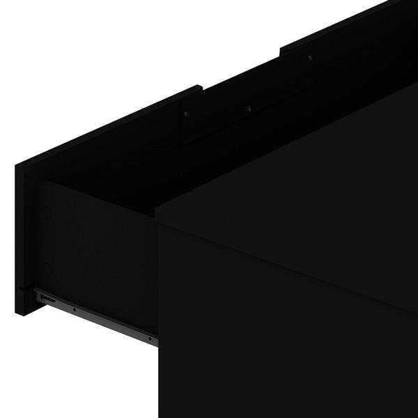Commode Rockefeller noire à 5 tiroirs par Manhattan Comfort