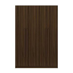 Manhattan Comfort Gramercy55.2-in Brown4-Door Wardrobe Cabinet