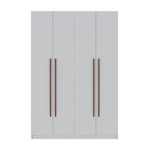 Vestiaire-penderie à 4 portes de 55,2po Gramercy par Comfort Mulberry, blanc
