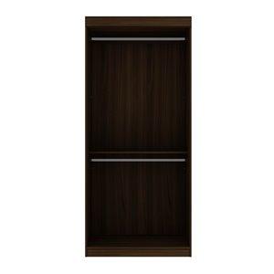 Vestiaire-penderie ouvert de 35,9po Mulberry par Manhattan Comfort, brun