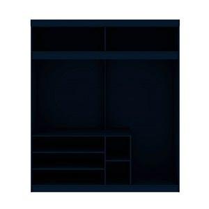 Manhattan Comfort Mulberry81.3-in Tatiana Midnight Blue Open Wardrobe Cabinet
