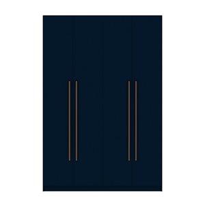 Vestiaire-penderie à 4 portes de 55,2po Gramercy par Comfort Mulberry, Tatiana coloris bleu-nuit