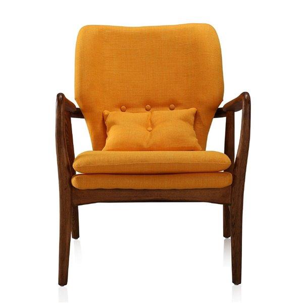 Ensemble de salle de séjour 2 pièces Bradley, jaune et noyer, par Manhattan Comfort