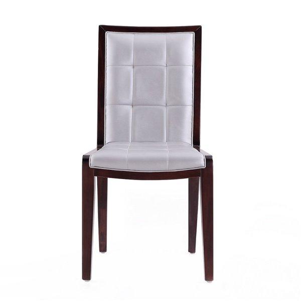 Chaise d'appoint traditionnelle Executor rembourrée en similicuir (cadre en bois) de Manhattan Comfort, ens. de 2
