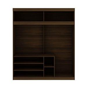 Vestiaire-penderie ouvert de 81,3po Mulberry par Manhattan Comfort, brun