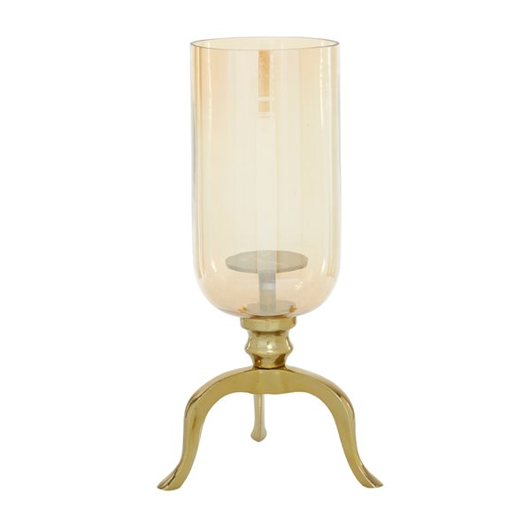 18-in x 13-in Traditional Candlestick Holders Gold Aluminum