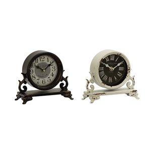 7 In. x 7 In. Vintage Clock Black Metal