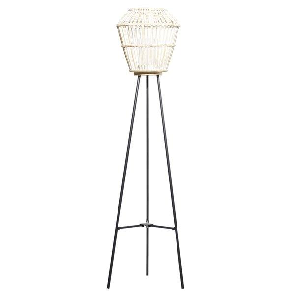55-in x 13-in  x 13-in Natural Lantern White Metal
