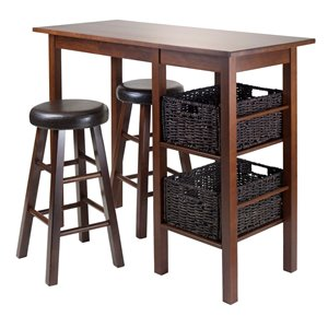 Winsome Wood Kingsgate High/Pub Dining Table Set - 3 Pieces