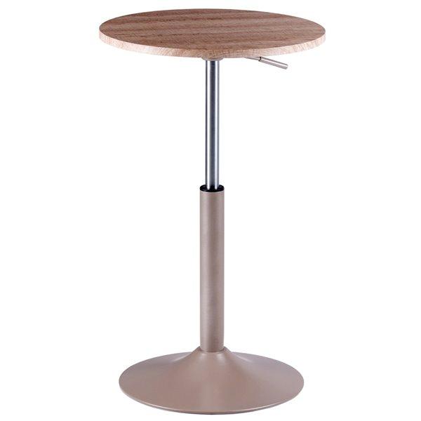 Table d'appoint ronde Christian de Winsome Wood en bois naturel