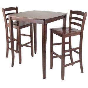 Table et tabourets Inglewood de Winsome Wood en noyer