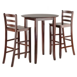 Winsome Wood Parkland 5-Piece High Table with 29-in Ladder Back Stools