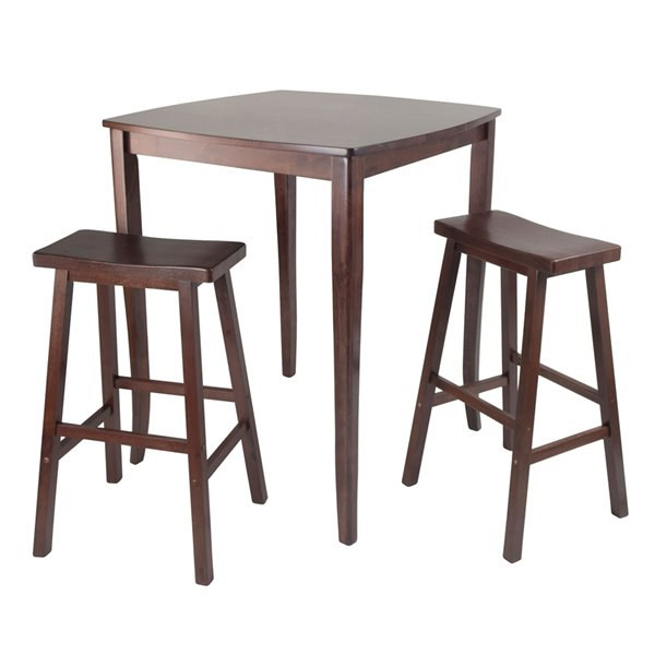 Winsome Wood 3-Piece Inglewood High/Pub Dining Table with Ladder Back Stool