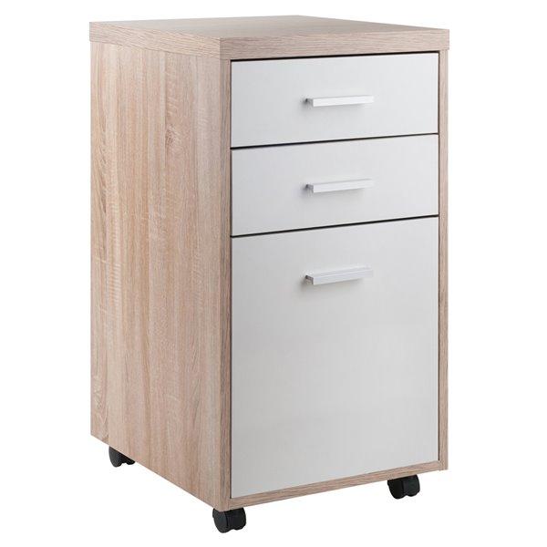 Meuble de bureau Kenner de Winsome Wood en bois de récupération, blanc