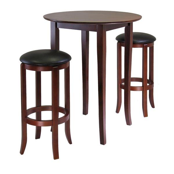 Table et tabourets Fiona de Winsome Wood en noyer