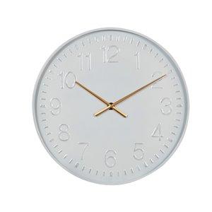 Grayson Lane Analog 24-in x 24-in White Round Wall Standard Clock