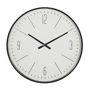 Grayson Lane Black/White Analogue Round Wall Standard Clock