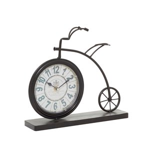 Grayson Lane Brown Analogue Novelty Tabletop Standard Clock
