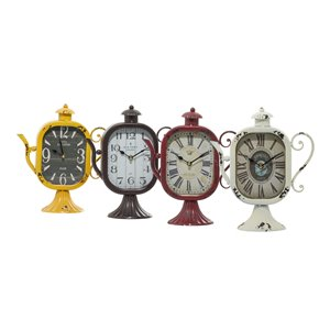 Grayson Lane Multiple Colours Analogue Tabletop Standard Clock - Set of 4