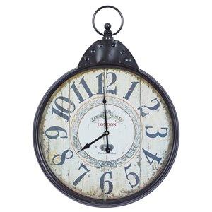 Grayson Lane Black and White Analogue Round Wall Clock