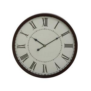 Grayson Lane White and Black Analogue Round Wall Standard Clock