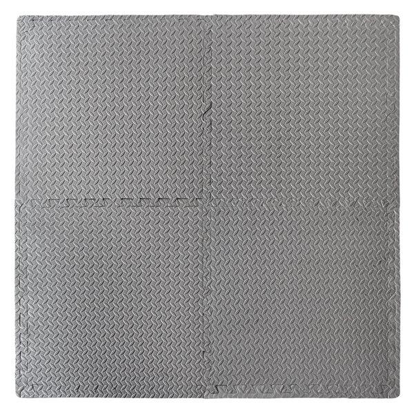 Tapis anti-fatigue carré gris par CONNECT-A-MAT, paquet de 4