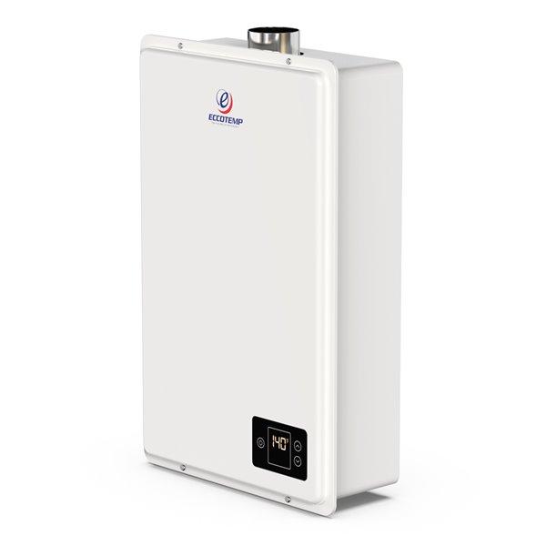 Chauffe-eau électrique sans réservoir d'intérieur au propane 20HI-LP par Eccotemp, 6gal/min, 150000BTU