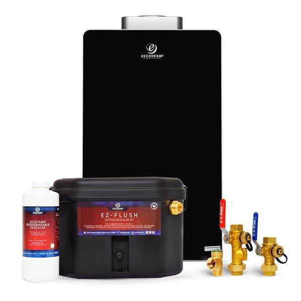 Chauffe-eau électrique sans réservoir d'intérieur au gaz naturel El22i-NGS par Eccotemp, 6,8gal/min, 140000BTU