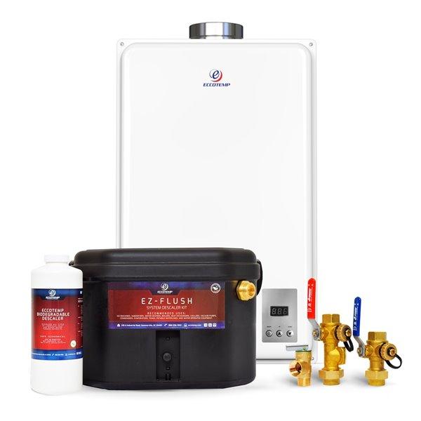 Chauffe-eau électrique sans réservoir d'intérieur au gaz naturel 45Hi-NGS par Eccotemp, 6,8gal/min, 140000BTU