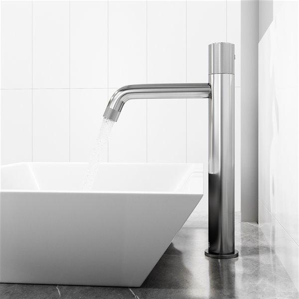 Robinet à 1 poignée pour lavabo de salle de bains Apollo de VIGO, chrome