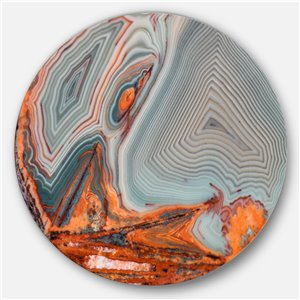 DesignArt 11-in x 11-in Beautiful Lake Superior Agate Disc Abstract Metal Circle Wall Art