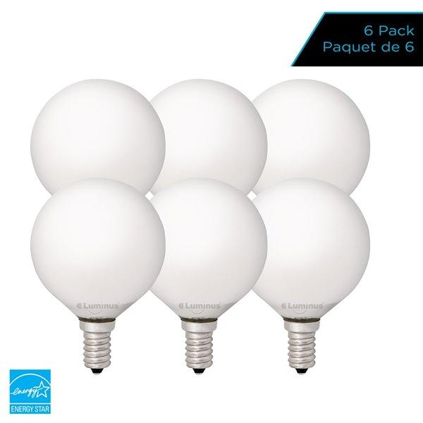 Ampoules à DEL à intensité réglable Luminus de 40 W, G16,5, EQ, lumière de jour (paquet de 6)