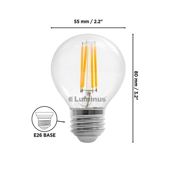 Ampoules à DEL à intensité réglable Luminus de 40 W, G16,5, EQ, lumière de jour, paquet de 6