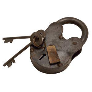 Grayson Lane 1-in x 2-in Industrial Lock and Key - Grey Metal