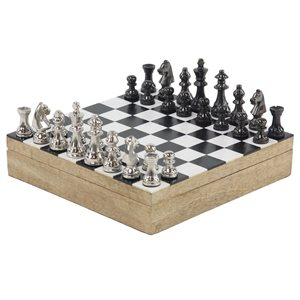 Grayson Lane 3-in x 12-in Traditional Game Set - Mango Wood and Aluminum